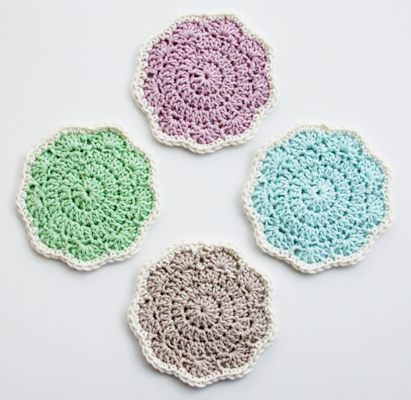 Pretty Crochet Coasters