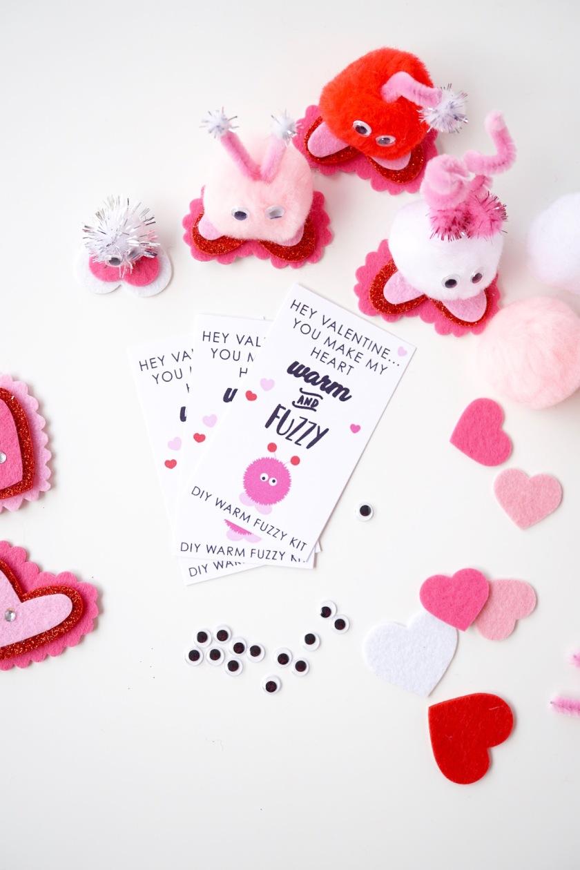 DIY warm Fuzzy Class Valentine 5