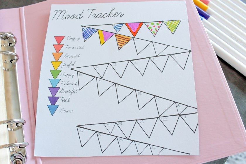 Flag Mood Tracker Free Printable