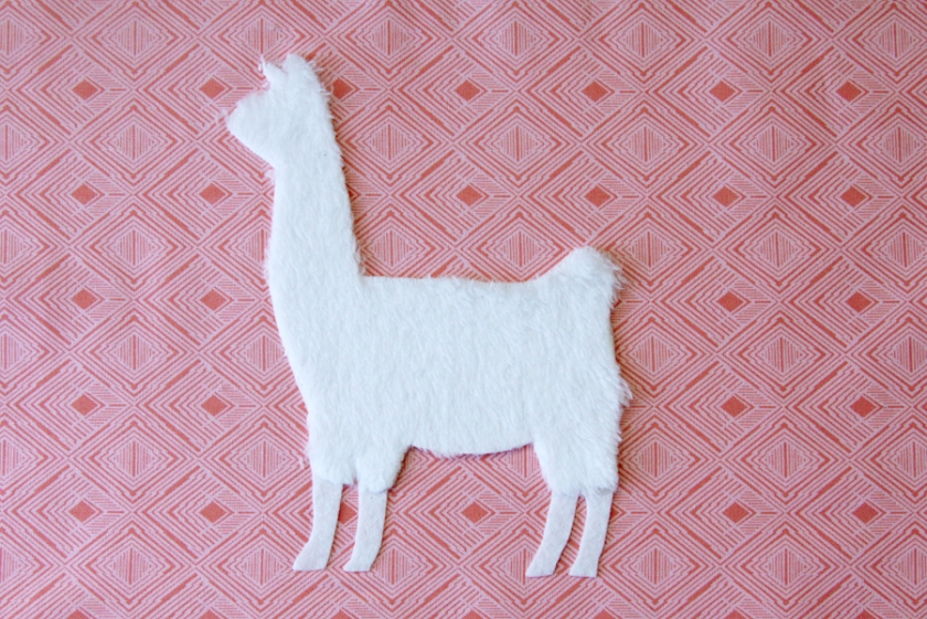 Llama applique and pattern