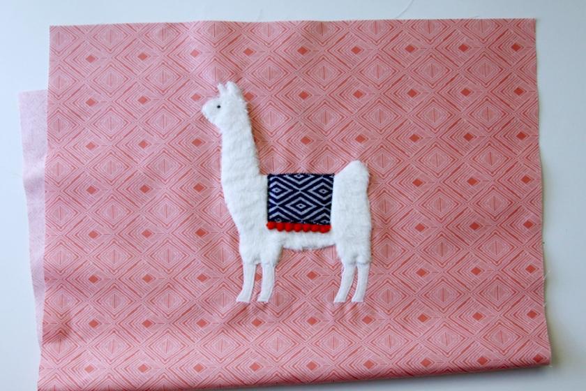 Llama Applique for Crayon Caddy