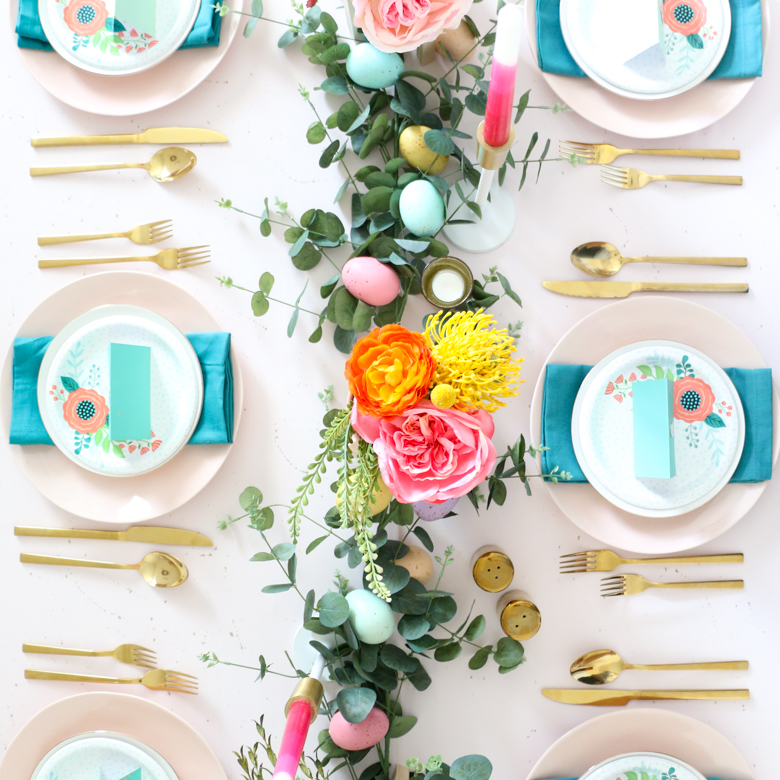 Vibrant Easter Tablescape